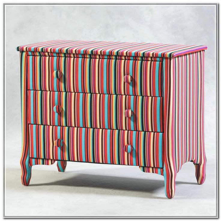 Pretty and Colorful Chest Of Drawer Design