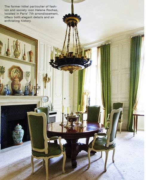 Helene Rochas | Parisian Dining Room