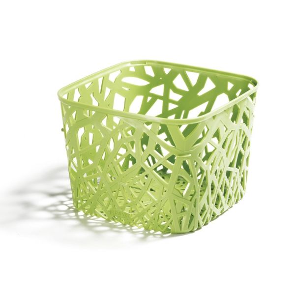 Curver - - EcoLife neo. I think Target carries this line. Good for bath storage on shelves? 100% post-consumer recycled plastic - I like that. Also a bamboo design w/covers. Both are also recyclable!