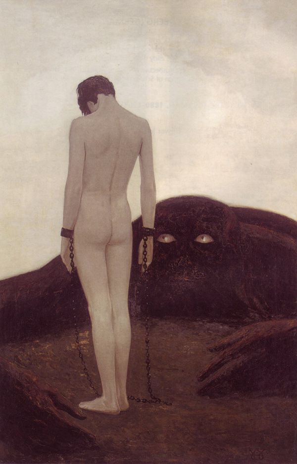zitterberg:    Sascha Alexander Schneider (German, 1870-1927), Emotion of Dependency.(via50watts)