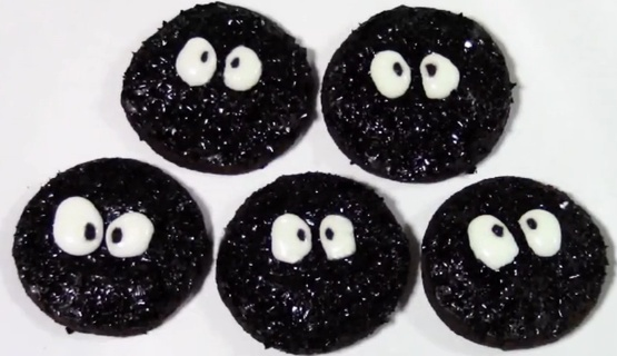 Halloween: Spirited Away Black Soot Cookies