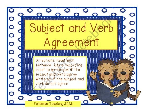 91 Best Images About Subject Verb Agreememt On Pinterest