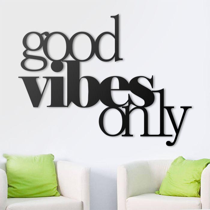 Good vibes only! #pozytywna #energia #napis #na #ścianę #3D #dekoracja #decor #wall #modern #design #good #vibes