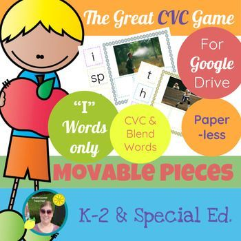 This is the digital, paperless version of The Great CVC Game (i Words Only) for Google Drive/Docs. Great for beginning readers and writers who use a tablet or Chrome book with access to Google Drive/Docs. Using this resource will require internet access for