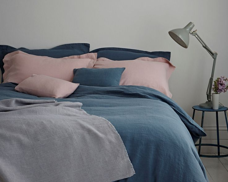 Duvet Covers | Parisian Blue -- Linen Works bedding