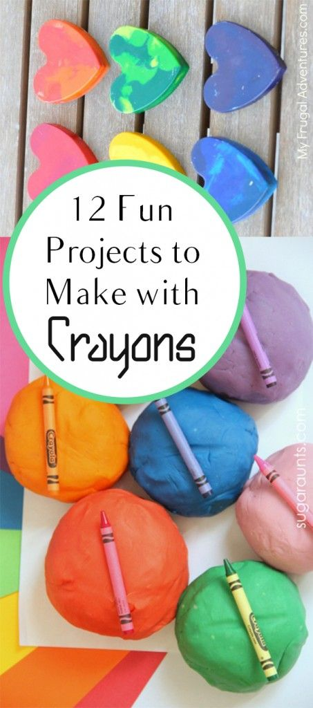 12 Fun Projects to Make with Crayons