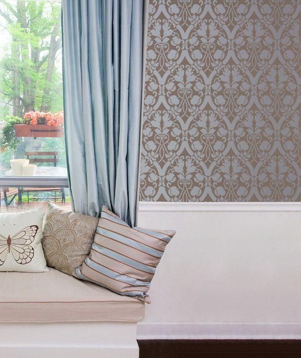 elegant wall decor with diy stencil projects entwined trellis wall stencils royal design studio