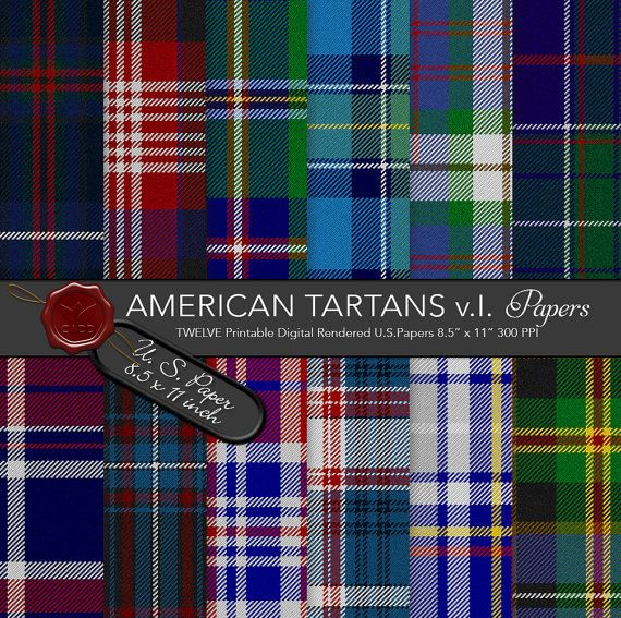 American tartans / National Eagle Heritage by CornucopiaArtDesign
