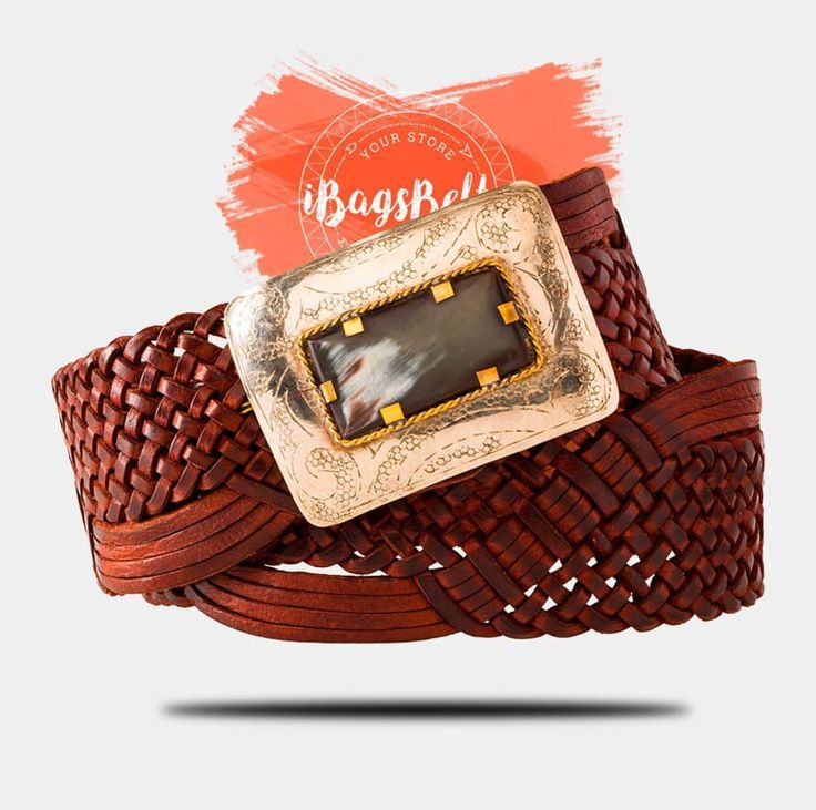 Este cinturón es el accesorio perfecto El cinturón está hecho de cuero trenzado a mano de forma artesanal,  Puedes ajustarlo a distintas medidas al gusto de cada una. 14 tiras de cuero se entrelazan de una manera única y dan un patrón individual que halaga tu cintura. Blusa, vestido, pantalón o falda. El encanto natural y el diseño lo convierten en un complemento de moda. Una chapa hebilla de color plata con incrustación de hueso sirve como un cierre para darte un toque original.