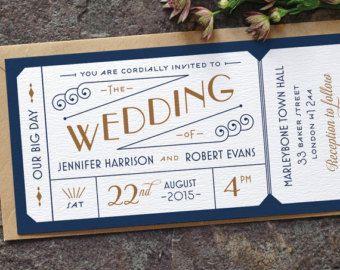 Movie Ticket Wedding Invitation Etsy Uk Weddings Wedding