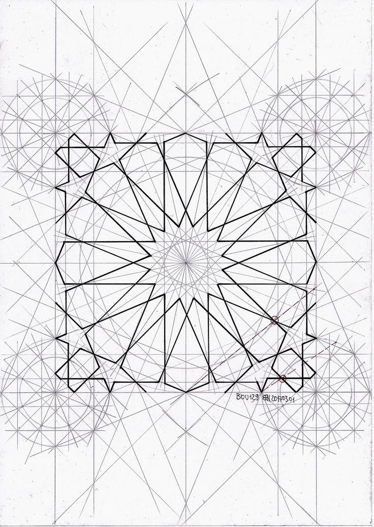 Bou129 #islamicart #islamicgeometry #pattern #arabianart #symmetry #mathart #regolo54 #star #handmade #escher