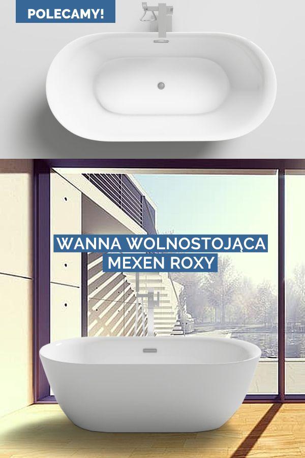 Wanna Wolnostojaca Owalna Wysokie Gladkie Scianki Akrylowa Mexen Roxy 170x80 Cm 180x85 Cm Bathtub Bathroom Roxy