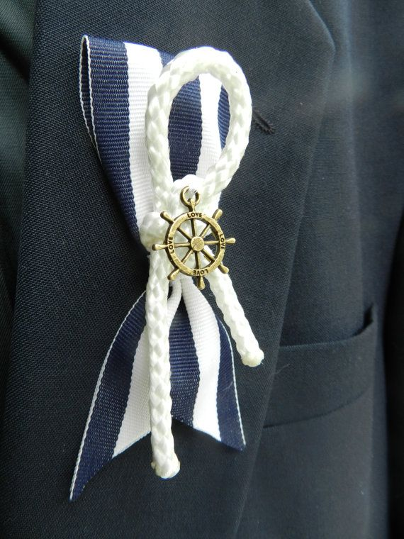 Nautical Themed Groom or Groomsmen Boutonniere by ChiKaPea on Etsy, $8.50