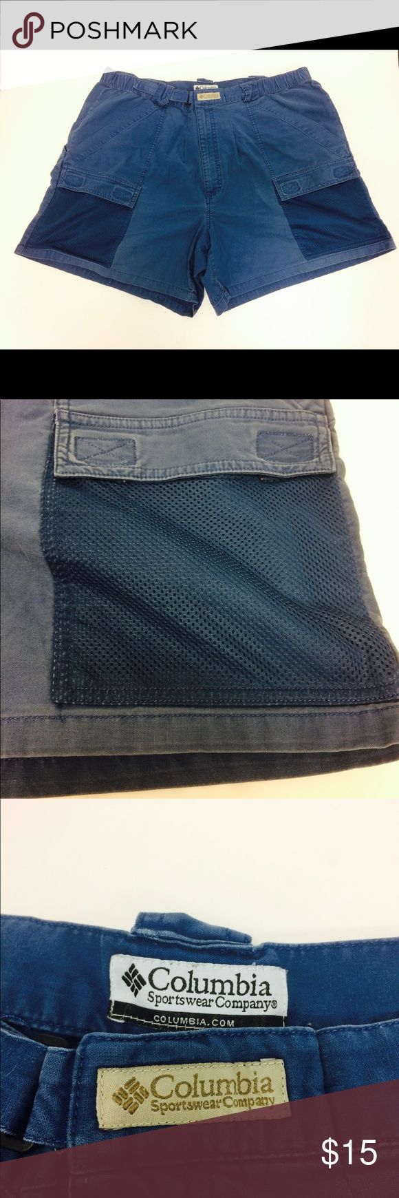 Columbia PFG Blue Cargo Style Fishing Shorts In excellent gently used condition. Columbia Shorts Hybrids