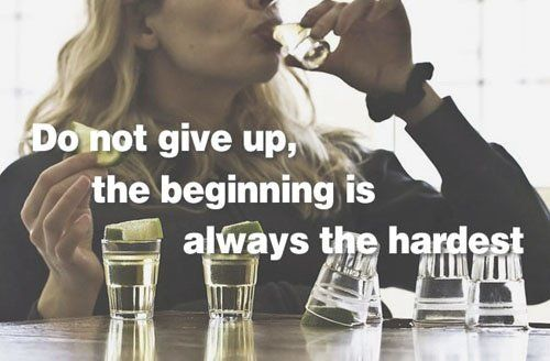 Combining fitness quotes with pictures of alcohol consumption