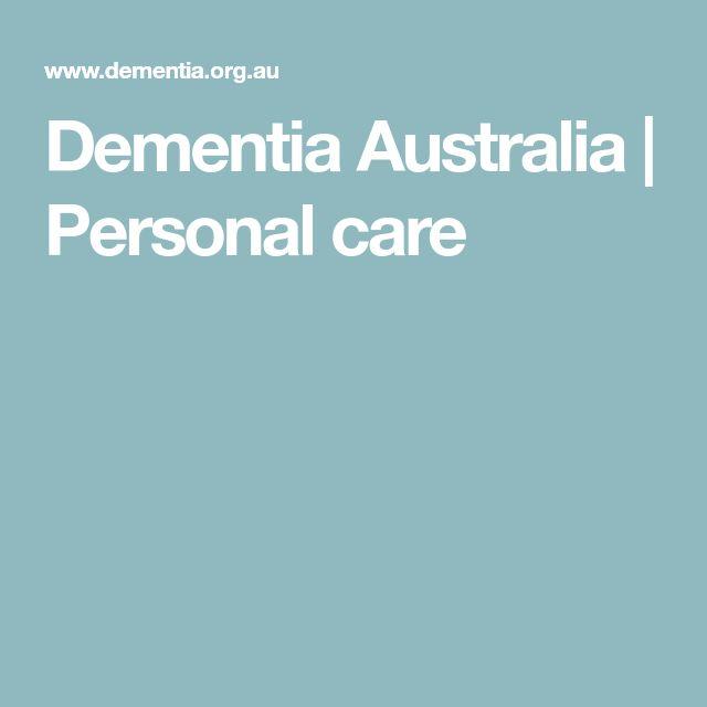 Dementia Australia | Personal care