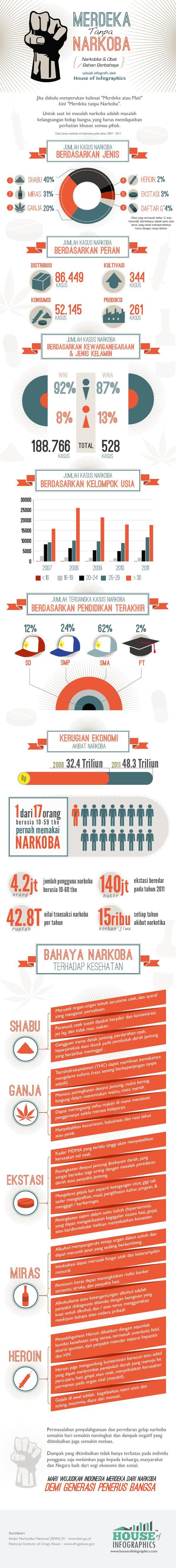 Infografis: Indonesia Merdeka Tanpa Narkoba - House of Infographics, June 2013