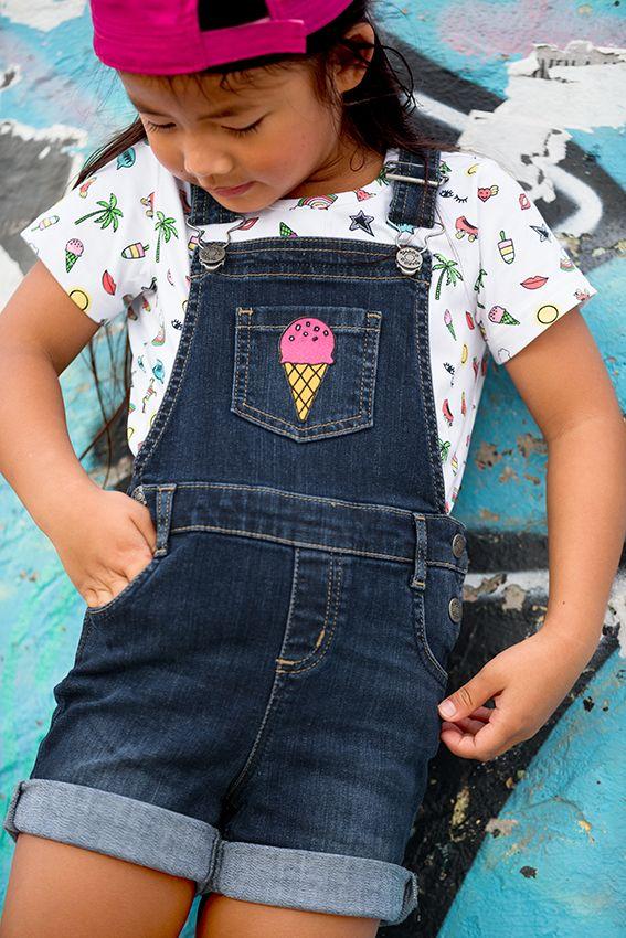 neuesten Stil wo kann ich kaufen neueste art Mädchen Jeans-Latzhose JAKO-O, kurz | MODE – Mädchen ...