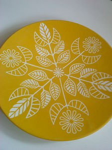 Melamine Type Retro Mustard Plate/Charger.1950s/60s.Not Ikea.