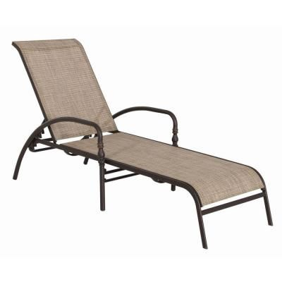 Hampton Bay Andrews Patio Chaise Lounge Fls The Home Depot
