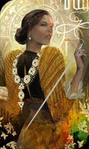 Josephine tarot card - Dragon Age Inquisition ~all the tarot cards are GORGEOUS