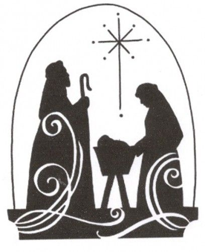 free printable nativity scene patterns | ... nativity_scene_silhouette_cross-stitch_pattern/design/seasonal