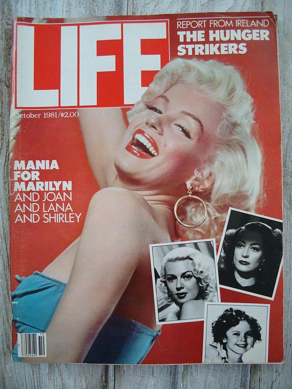 1981 Marilyn Monroe Life magazine  Marilyn Monroe Magazine