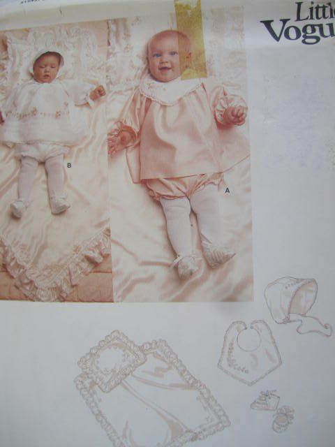 See Sally Sew-Patterns For Less - Infant Baby Layette With Transfers Sew Vogue 1250 Pattern Sz. Small, $10.00 (http://stores.seesallysew.com/infant-baby-layette-with-transfers-sew-vogue-1250-pattern-sz-small/)