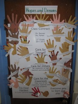 Hopes and Dreams Chart with Class rules; Responsive Classroom