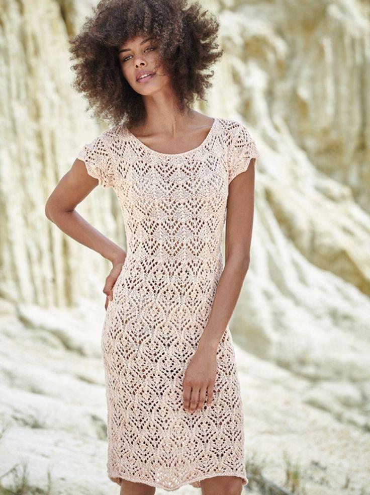 Ажурное платье-футляр спицами — HandMade