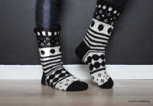 Marimekko styled wool socks