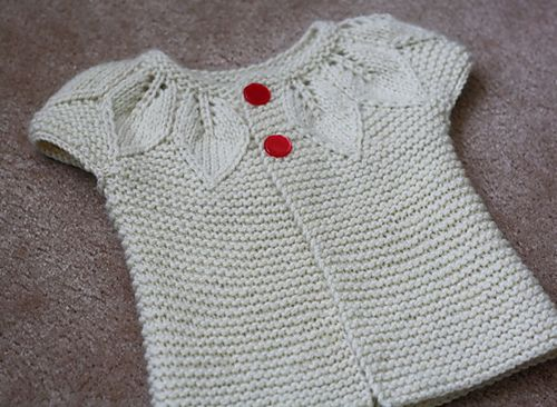 Cute #knit baby cardigan with vintage buttons.