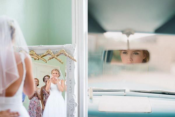 Bruiloft Inspiratie laat wekelijks de meest bijzondere bruiloft foto´s zien. Deze week de mooiste foto´s van de bruid in de spiegel.