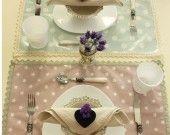 Tovagliette in tessuto lavabile : Cucina e servizi da tavola di a-casa-di-ro su ALittleMarket