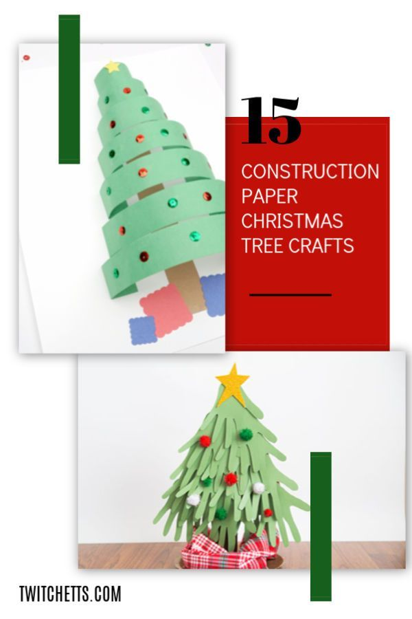 15 fun construction paper Christmas trees for kids Share Your