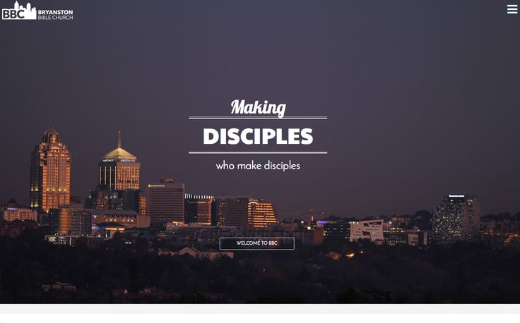 Bryanston Bible Church 2015 Website Refresh | One Part Scissors