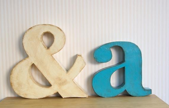 La Factoría Plástica: Decorative letters / Letras decorativas