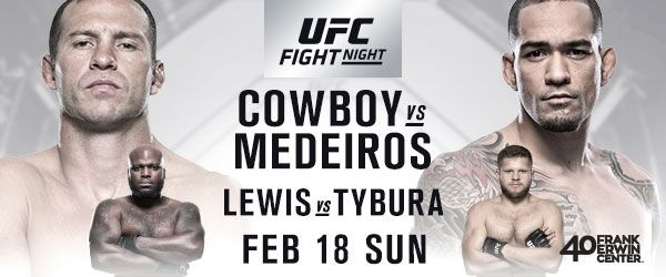 UFC® RETURNS TO AUSTIN WITH A WELTERWEIGHT THRILLER BETWEEN DONALD CERRONE AND YANCY MEDEIROS FEATURED BOUTS: (#6) DERRICK LEWIS vs. (#8) MARCIN TYBURA SAGE NORTHCUTT vs. THIBAULT GOUTI TICKETS FOR UFC FIGHT NIGHT® AT FRANK ERWIN CENTER GO ON SALE FRIDAY, JAN. 5