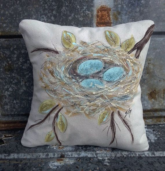 Hey, I found this really awesome Etsy listing at https://www.etsy.com/listing/179707653/hand-painted-robins-nest-with-blue-eggs