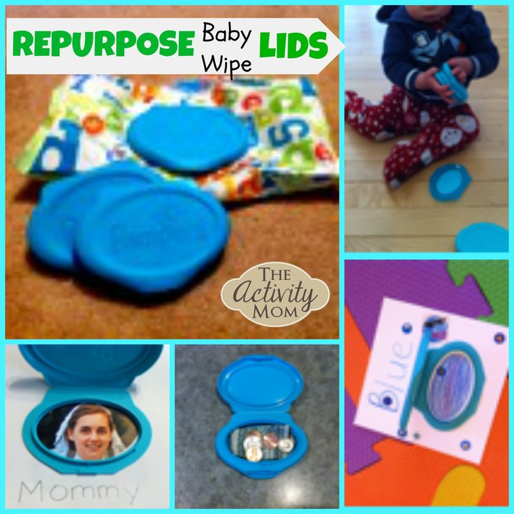Repurpose Baby Wipe Lids for your Baby or Toddler