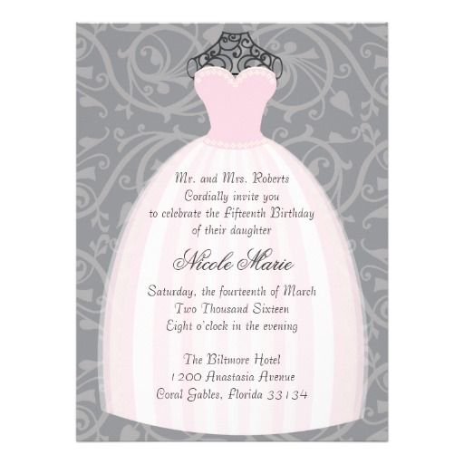 9 best Debut Invitations (Examples) images on Pinterest Debut - fresh invitation letter for birthday debut
