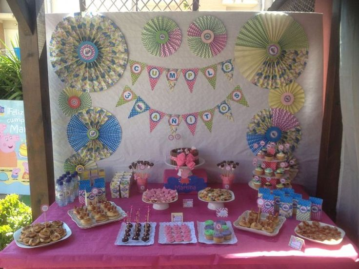 decoracion cumpleaños Peppa pig | Ser padres es facilisimo.com