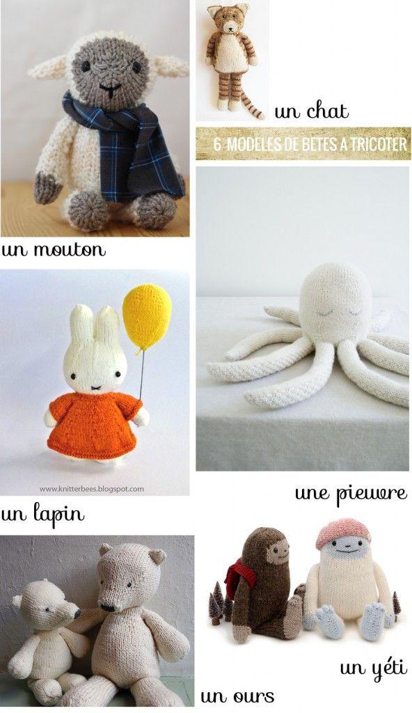 6 modèles de doudous à tricoter