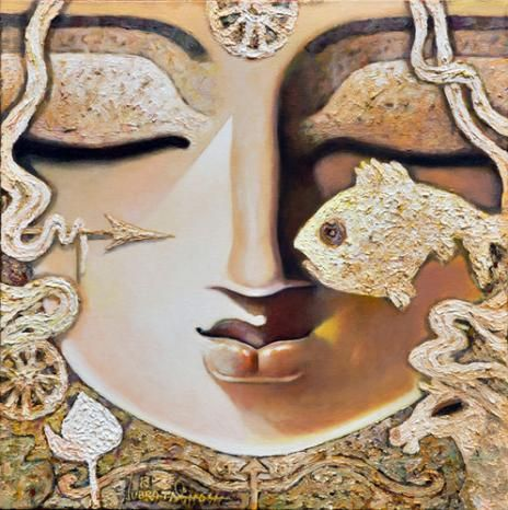 """Recently sold on IndianArtCollectors! """"Lakshyaveda"""" by Subrata Ghosh See more artworks by Subrata Ghosh at: http://www.indianartcollectors.com/artist/SubrataGhosh"""