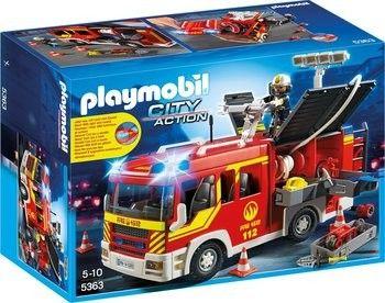 Fourgon de pompier avec sirène et gyrophare