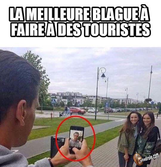 Blague à touristes... image drole humour