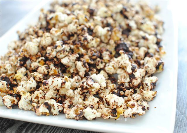 ... | White chocolate popcorn, Salted caramel popcorn and Roasted nuts