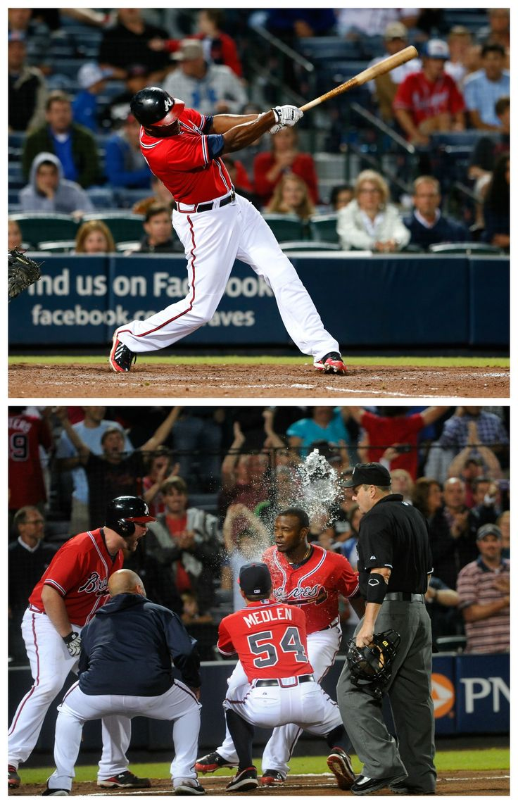 Justin Upton slams a home run in extra innings to lead the Braves to victory over the Nationals!