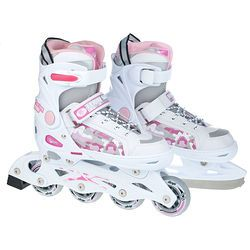 Rolki regulowane z wymienną płozą 2w1 My Skate Allright (różowe)