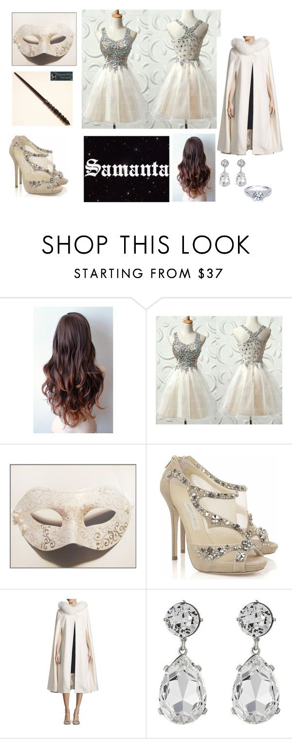 """""""Lírios Brancos"""" by lalla-amaral on Polyvore featuring Masquerade, Jimmy Choo, Sofia Cashmere, Kenneth Jay Lane, women's clothing, women, female, woman, misses and juniors"""